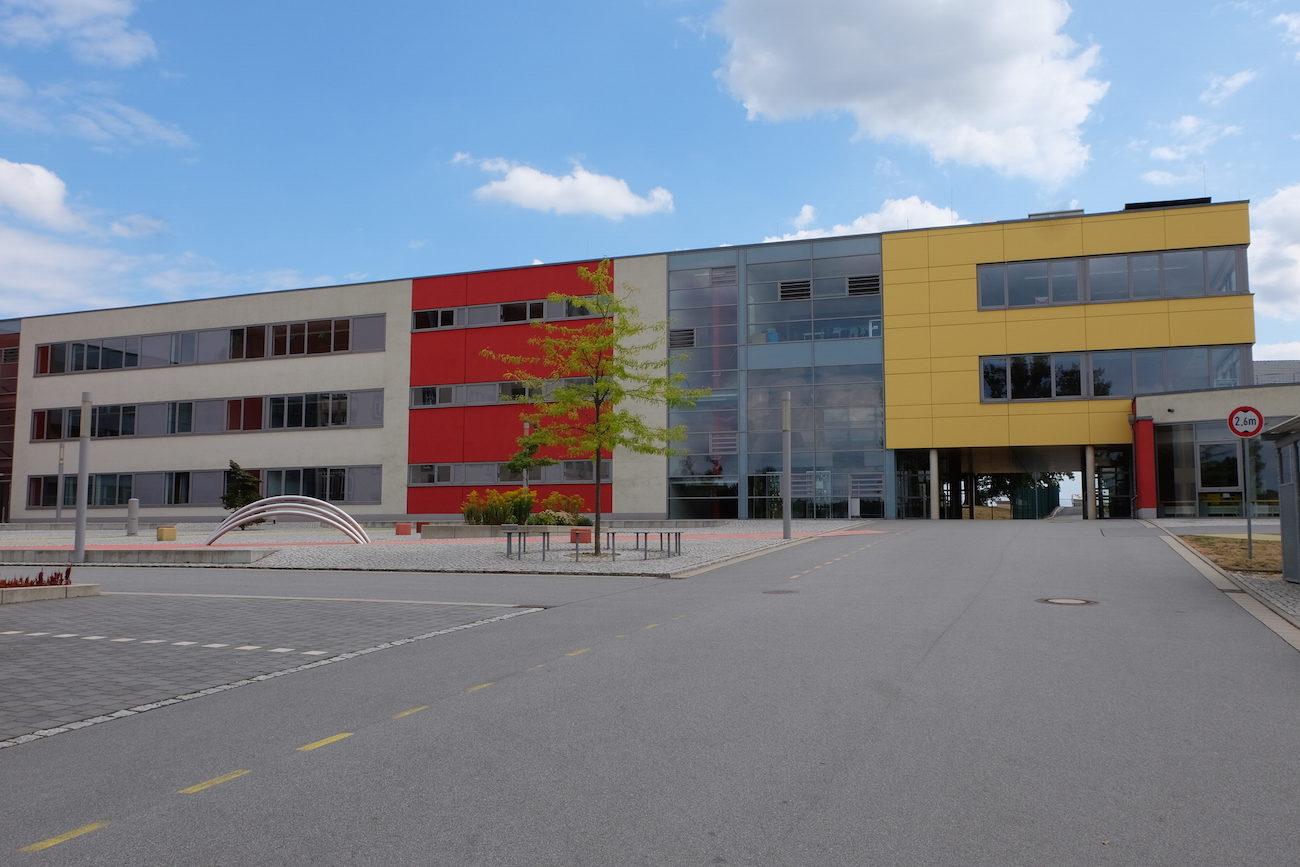 Foto vom Neubau des Gymnasiums in Großröhrsdorf
